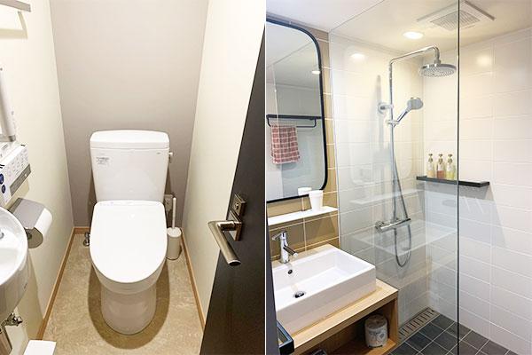 コテージ 特別室(C-1):トイレ、シャワールーム完備