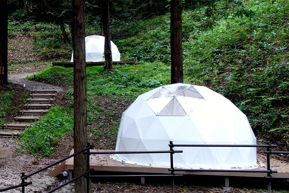 グランピングサイト:ドームテント